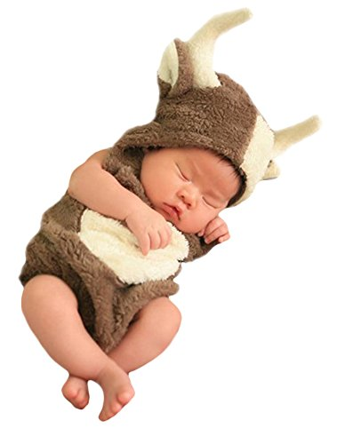Unisex Infant Baby Toddlers Halloween Cute Cow Animal Costume (0-3 Months) (Cow Costume Infant)