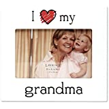 Lawrence Frames 'I Love My Grandma' Picture Frame, 6 by 4-Inch, White