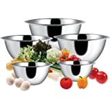 BC Classics 5-Piece Deep Stainless Steel Mixing Bowl Set