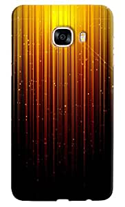 Omnam Fire Faling Effect Printed Designer Back Cover Case For Samsung Galaxy C7