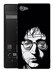 "Humor Gang John Lennon Trippy Love - The Beatles Printed Designer Mobile Back Cover For ""Sony Xperia Z5 Mini - Compact"" (3D, Matte, Premium Quality Snap On Case)"