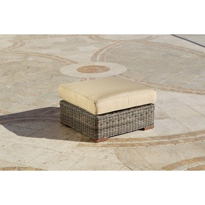 RST Brands OP-PEOO36-LNK-WG Resort Ottoman Weathered Grey photo