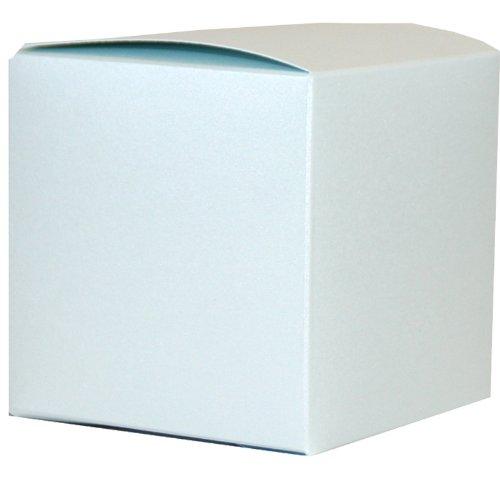 75 x 75 x 75 mm eisblau Perlmuttartige Geschenkbox (7,62 cm)