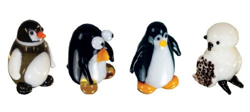 Looking Glass Miniature Collectible - Penguin / Owl (4-Pack)