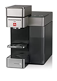 Francis Francis for Illy 60072 Y5 Duo Espresso & Coffee Machine, Silver/Black