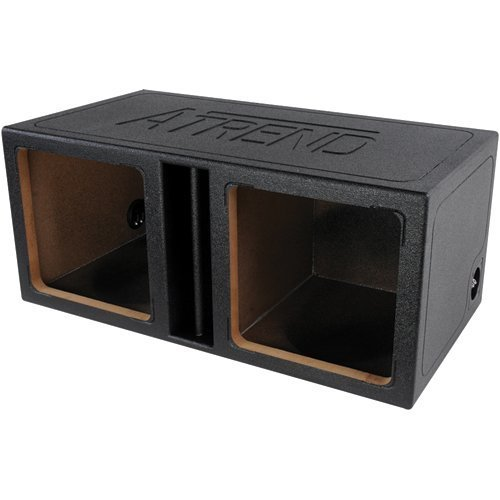 Atrend Tl-15Dvk 15-Inch Slammer Vented Divided L5/L7 Enclosure With Bed Liner Finish (Dual)