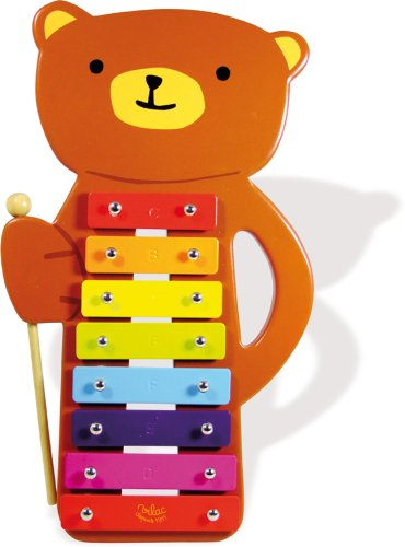 Vilac Baby Musical Toy Metallophone, Teddy Bear