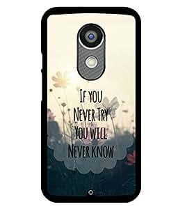 printtech Cool Quotes Life Back Case Cover for Motorola Moto X2 , Motorola Moto X (2nd Gen)