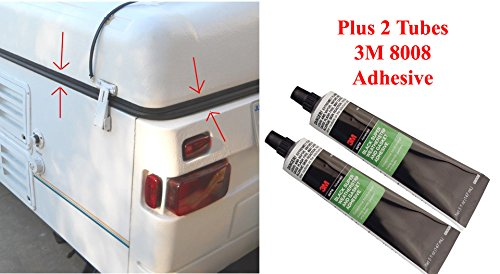 Coleman Fleetwood Popup Trailer Roof Seal 41' for ABS Roofs - Rubber Gasket + Adhesive (Coleman Pop Up Seal compare prices)