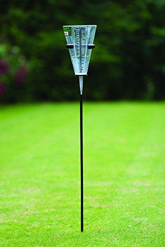 Tierra Garden Gp1860 Plastic Rain Gauge With Holder Clear