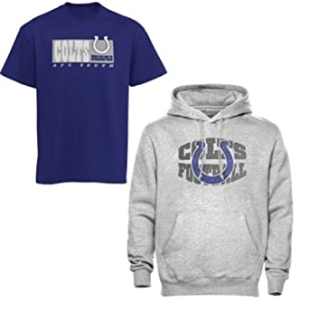 NFL Mens Indianapolis Colts Hoodie and T Shirt Combo by NFL Apparel