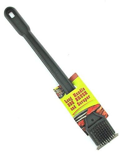 24 Long Plastic BBQ Brushes w/Scraper 18