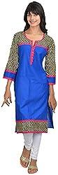 Goodyygoods Women's Cotton Regular Fit Kurti (GG 46, Multi, Large)