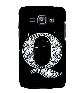 Alphabet Q 3D Hard Polycarbonate Designer Back Case Cover for Samsung Galaxy J1 2016 :: Samsung Galaxy J1 2016 Duos :: Samsung Galaxy J1 2016 J120F :: Samsung Galaxy Express 3 J120A :: Samsung Galaxy J1 2016 J120H J120M J120M J120T