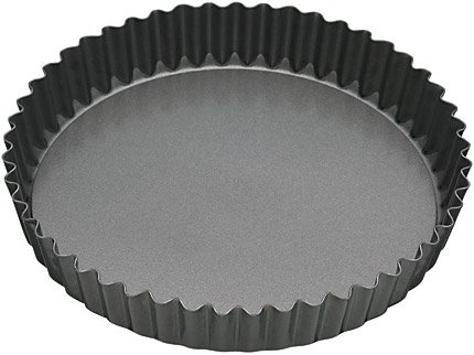 23cm Non-stick Fluted Loose Base Round Quiche Tin