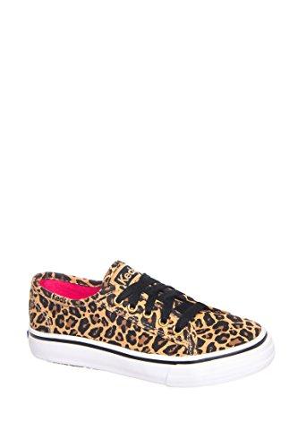 Girl's Double Up Leopard Low Top Sneaker