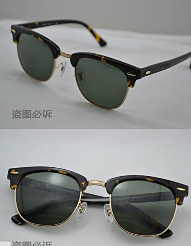 2015 Vintage Glasses sunglasses women men sun glasses (Leopard Deep Green)
