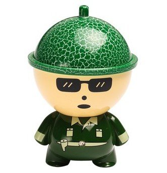 Big Head Cartoon Doll Car Charger- Green - 2.1A- For Apple Iphone 6 5S 5C 5, Ipad Air Mini, Galaxy S5 S4 S3, Note 3 2, Lg G3, Camera Battery Charger, Htc One M8, Ps Vita, Moto X, And More
