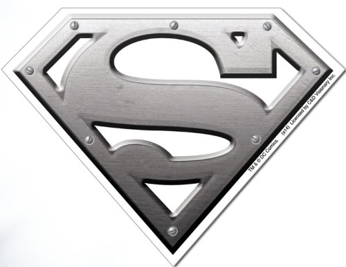 Licenses Products DC Comics Superman Metal Logo Sticker