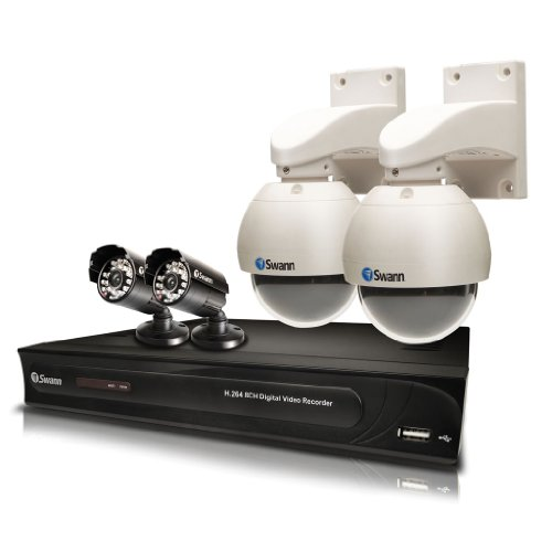 Swann SWDVK-81200PTST DVR8-1200 8 Channel Digital Video Recorder with 2 x PRO-530 and 2 x PRO-746 Dome Cameras - ( CCTV-Kits Cameras)