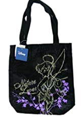 Disney Fairies Nature Lovers Tinkerbell Tote Handbag - Washed Black