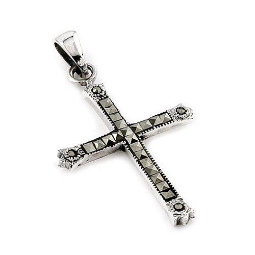 Marcasite Sterling Silver Cross Pendant