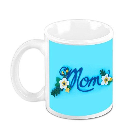 HomeSoGood Mother Is As Beautiful As Flower White Ceramic Coffee Mug - 325 Ml