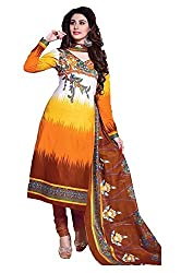 Pruthu Anarkali Dress Material, Cotton, Printed, Unstitched (pa_06_Multi-color_Free Size)