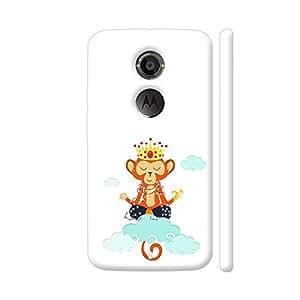 Colorpur Om King Monkey Meditation In Clouds Artwork On Motorola Moto X2 Cover (Designer Mobile Back Case)   Artist: Shefali Desai