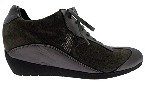 sneaker lacci grigio zeppa art 61212 scarpa donna 39 grigio