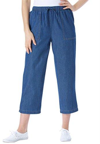 Womens Plus Size Petite Summer Capri Jeans