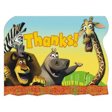 Madagascar Thank You Notes 8ct