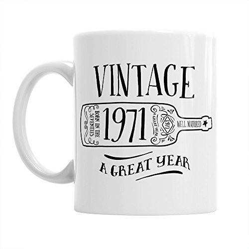 45th Birthday, 45th Birthday Gift, 45th Birthday Gifts For Men, 45th birthday Gifts For Women, 1971 Birthday, Vintage Wine1971, Coffee Mug