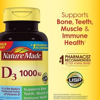 Nature Made Vitamin D3 1000IU, 650 Softgels by Nature Made (Nature Made Vitamin D3 1000iu compare prices)