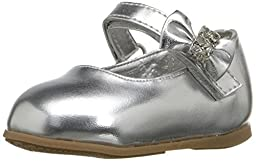 Josmo 50201 Mary Jane Infant dress shoes (Infant/Toddler),Silver/Metallic,1