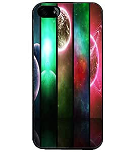 PrintDhaba Pattern D-2691 Back Case Cover for APPLE IPHONE 5S (Multi-Coloured)