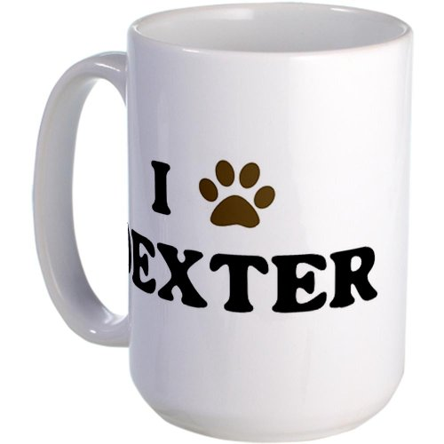 Dexter Paw Hearts Large Mug By Cafepress