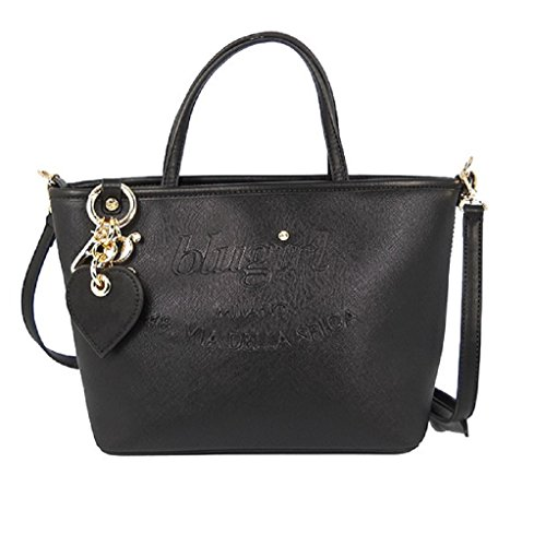 BORSA BLUGIRL SMALL SHOPPING BLACK 002