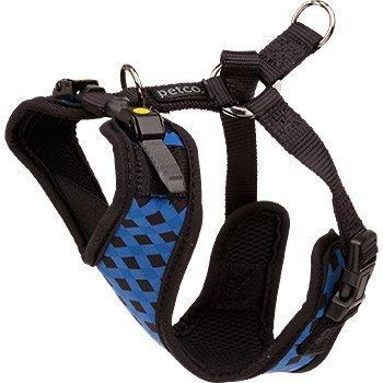 petco-en-maille-reglable-harnais-pour-chien-en-noir-et-imprime-checker-bleu-xs