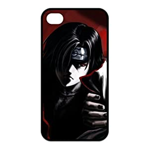 Japanese Anime Naruto Series Itachi Uchiha for Iphone4/4s Leather Rubber Cover Case-Creative New Life