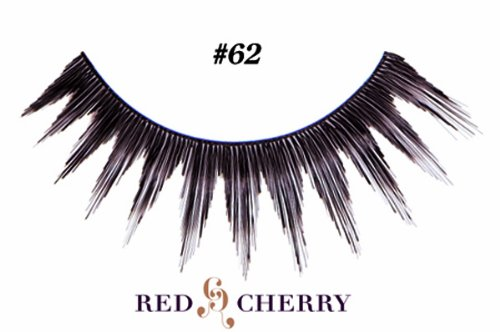 Red Cherry False Eyelashes (Pack of 10 pairs) (62)