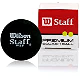 Wilson Staff Squash Balls, Black (2 Pack)