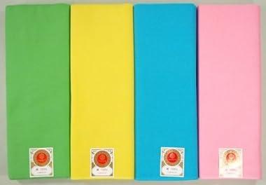 カラー新モス(新毛斯)9色 黄緑色、黄色、青色、ピンク、黒、紫、紅梅、オレンジ、濃紺 一反10m(約) お祭りや裏地に 色晒