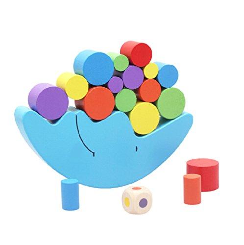 木のおもちゃ カラフル 月様 バランスゲーム 積み木 幼児 知育玩具 ベービー おもちゃ