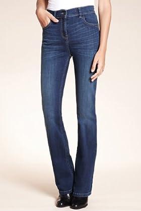Slim Denim Bootcut Jeans [T54-6622-S]