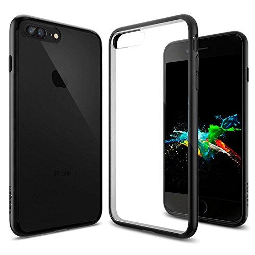 Cover-iPhone-7-Plus-Choetech-DOPPIA-PROTEZIONE-Custodia-Protettiva-per-iPhone-7-Plus-in-Policarbonato-PC-fuso-con-Tpu-Antiscivolo-Trasparente-con-bordi-neri