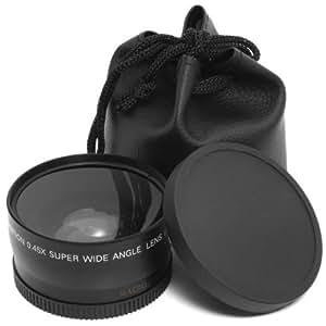 Objectif macro et grand-angle 0,45x 58mm + pochette-housse noire grand angle pour Canon 1DX 5D Mark 5D2 5D3 6D 7D 70D 60D 700D 650D 1100D 1000D 600D 50D 550D 500D 40D 30D 350D 400D 450D 30D 10D neuf LF37