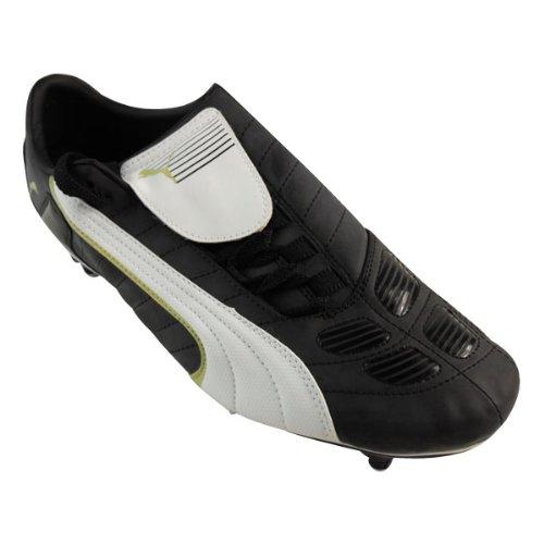 Mens Puma V Kon II SG Black Soft Ground Football Boots Soccer Cleats Size UK 9.5