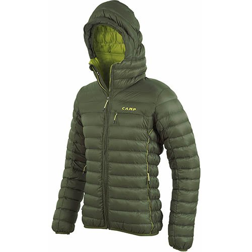 PIUMINO CAMP ED PROTECTION JACKET UOMO VERDE MILITARE GIACCA IN PIUMA COD 2341