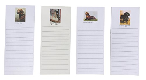 Dachshund Magnetic Refrigerator List Pad Set of 4